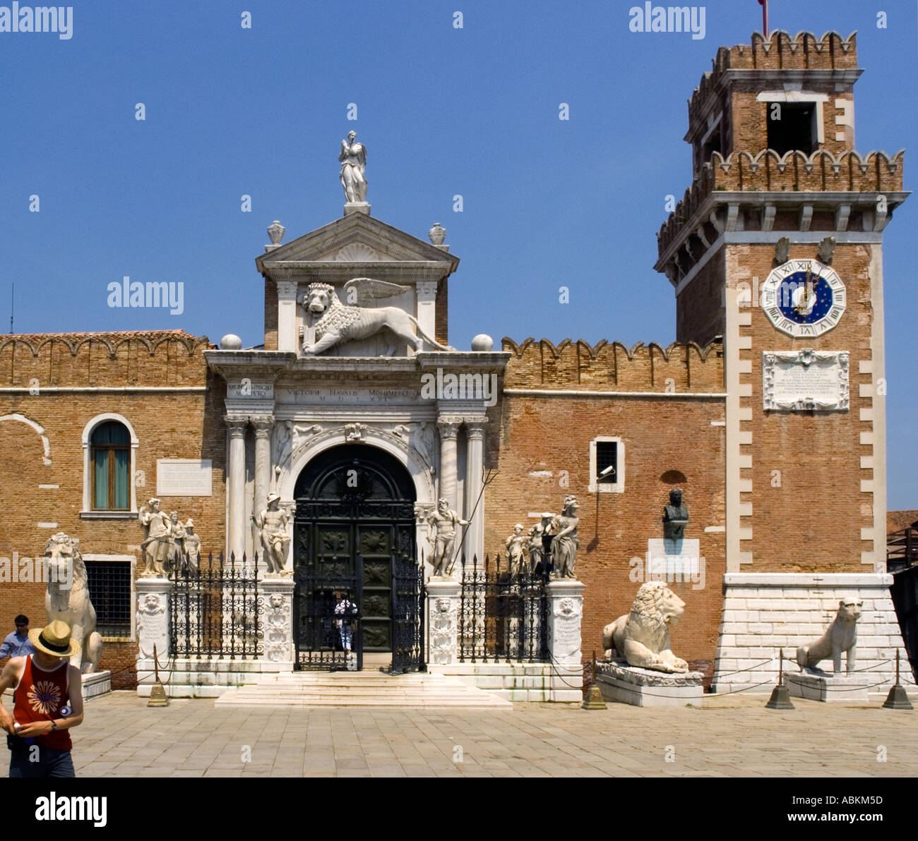 the Arsenale in Venice, Italy - Stock Image