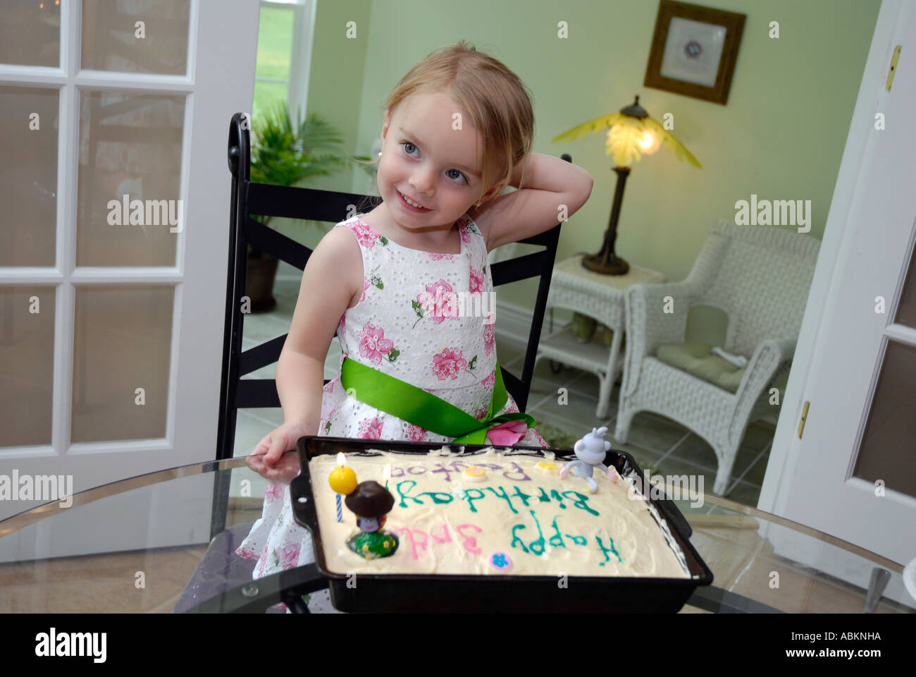 Amazing 3 Year Old Girl Celebrates Her Birthday With A Cake With Candles Funny Birthday Cards Online Overcheapnameinfo