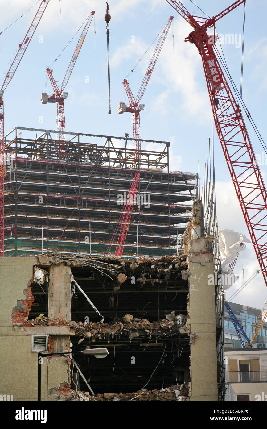 urban redevelopment regeneration in Central and East London UK - Stock Image