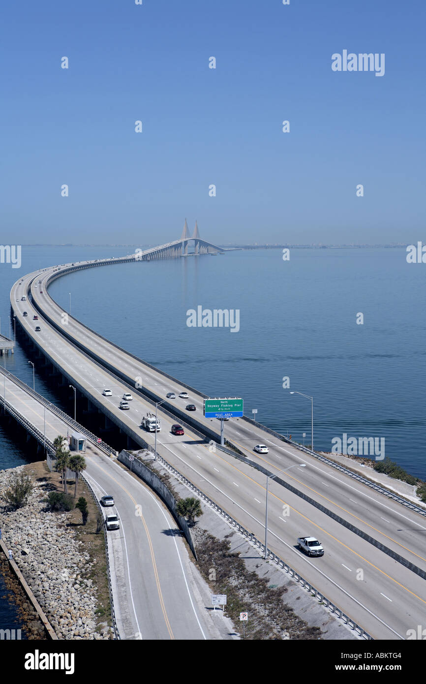 Scenic aerial photo of sunshine skyway bridge fishing for Tides 4 fishing skyway