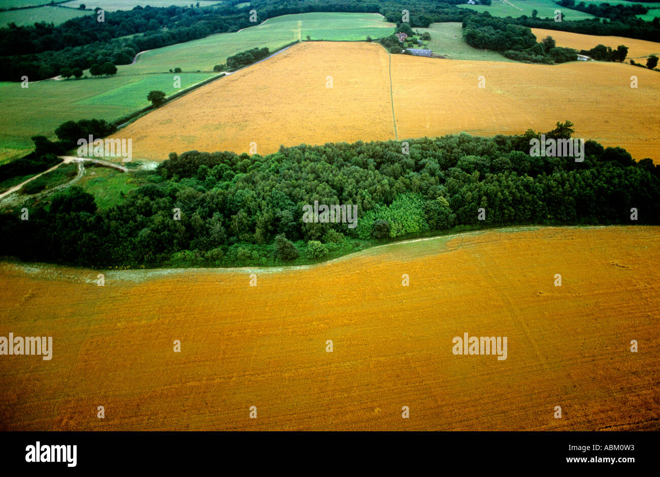 SUSSEX Haywards Heath area, aerial view. Southern England. - Stock Image