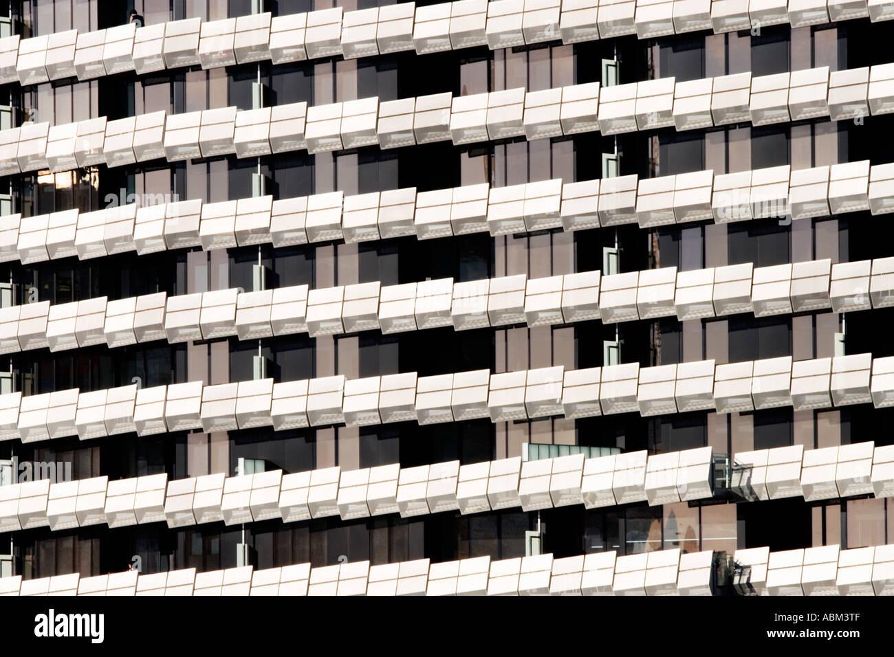 Modern Architecture / The Facade Of A Modern Apartment Building In  Melbourne Victoria Australia.