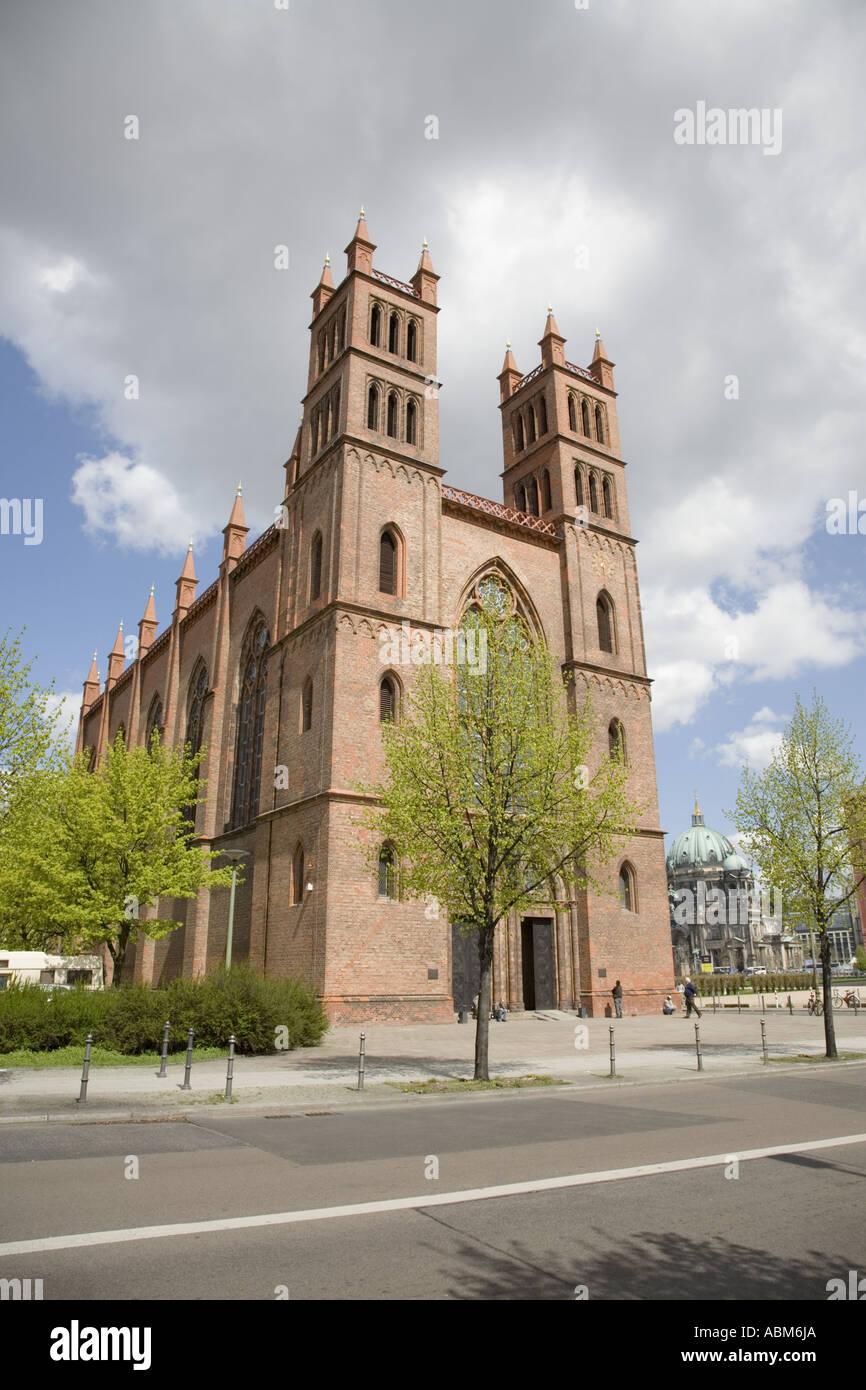 Friedrichswerdersche Kirche (Church) and Schinkel Museum, Berlin Germany Stock Photo