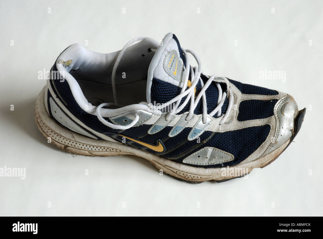 An old Nike running shoe Stock Photo  12925506 - Alamy 71ba66ac20db