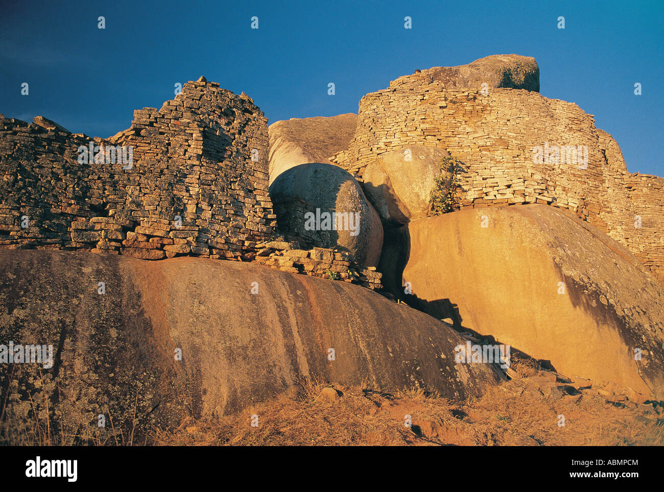 View of Hill Complex formerly called Acropolis Great Zimbabwe Ruins Zimbabwe Stock Photo