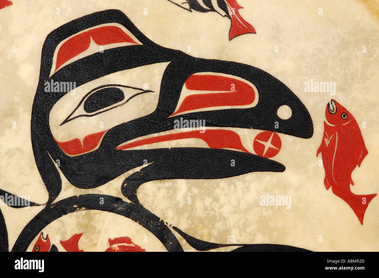 Alaskan Art, Tsimshian design - Stock Image