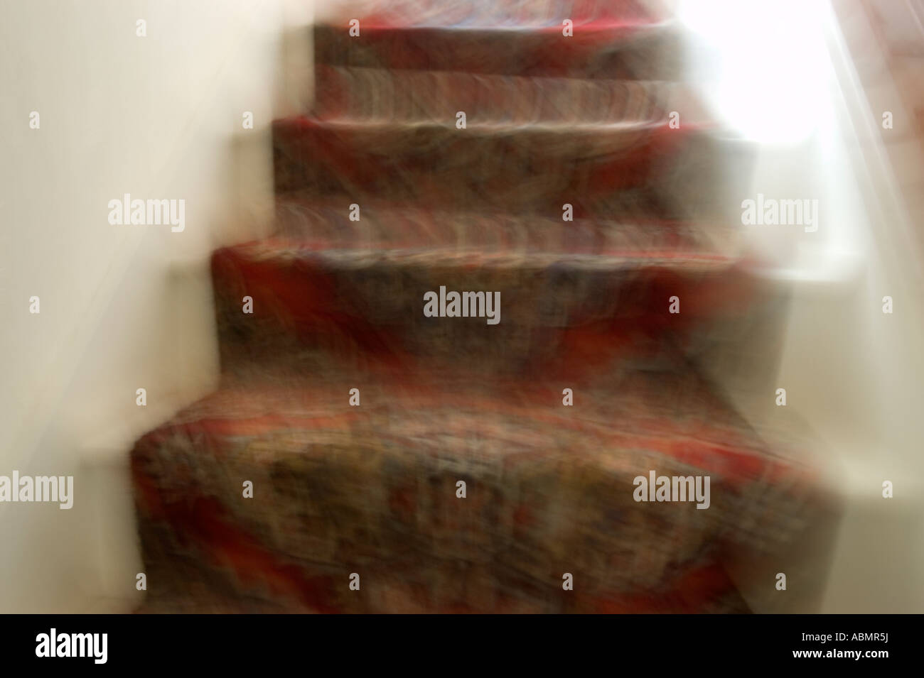 Blurred Stairs Looks Like When Your Tired Drunk Or Nausious Stock