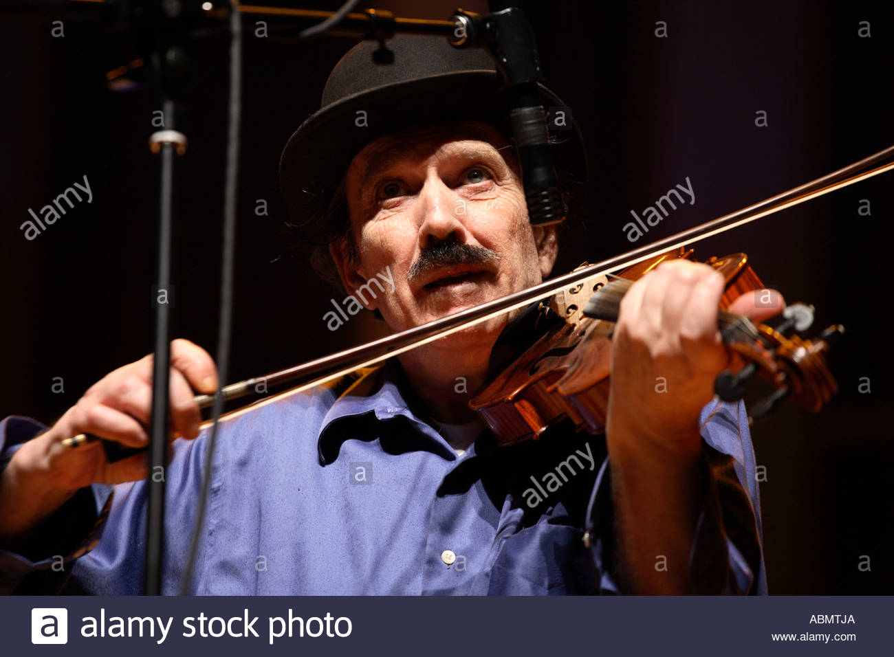 Members of the White Top Mountain Band perform at the Strathmore Music Center in North Bethesda Maryland - Stock Image