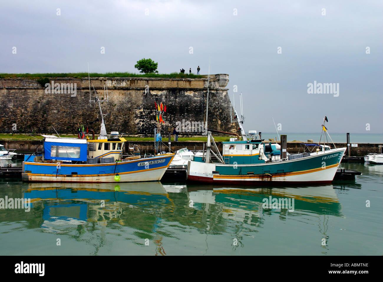 The Port Of Le Chateau D Oleron On The Ile D Oleron Charente Stock