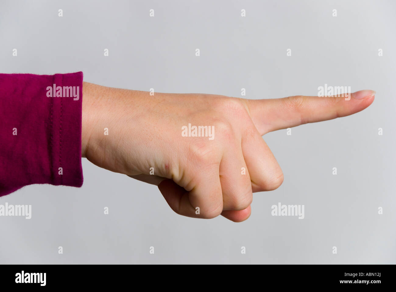 Finger pointing in an accusatory manner - Stock Image