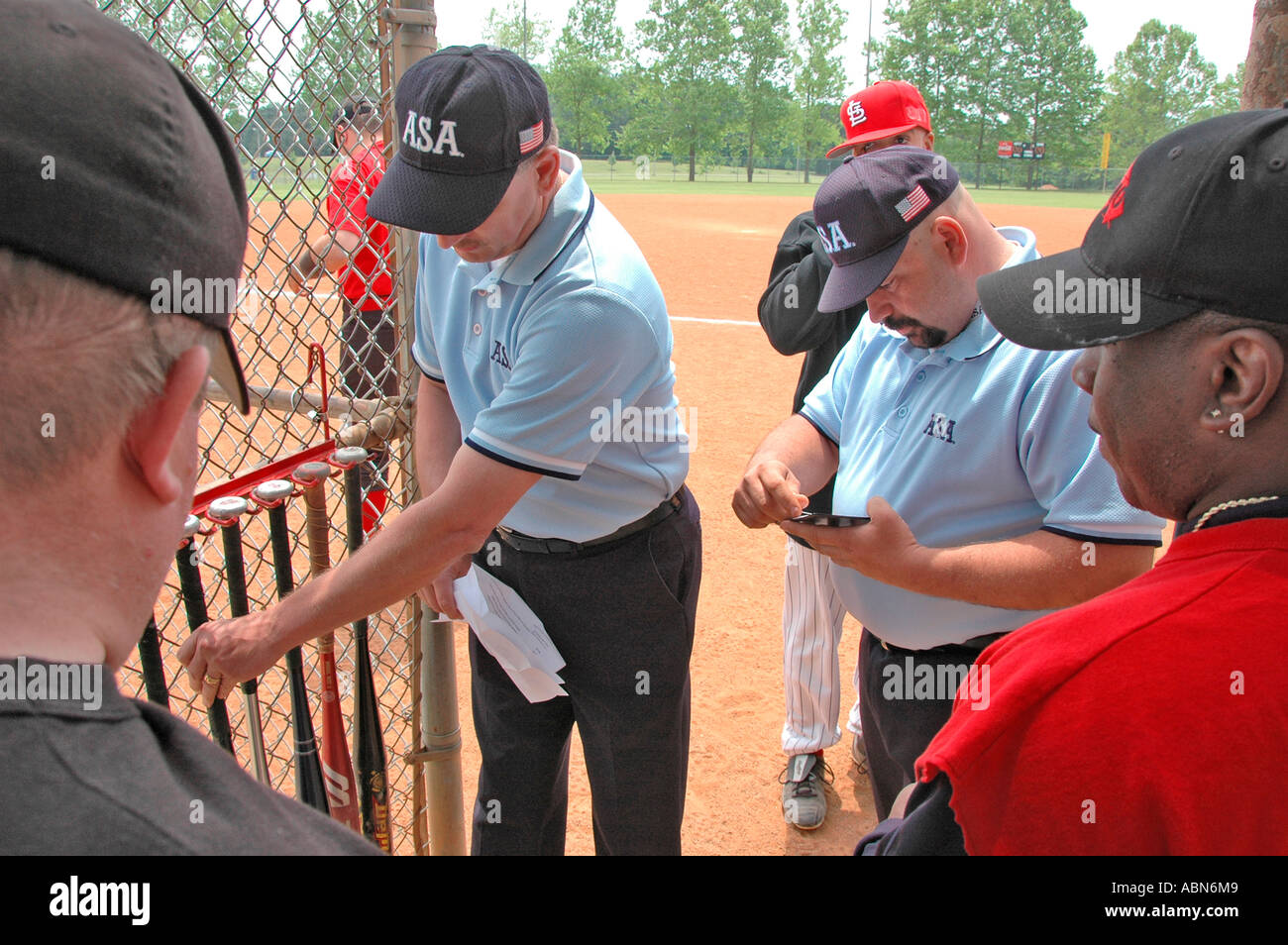 Softball Umpires Asa In Us Stock Photos & Softball Umpires