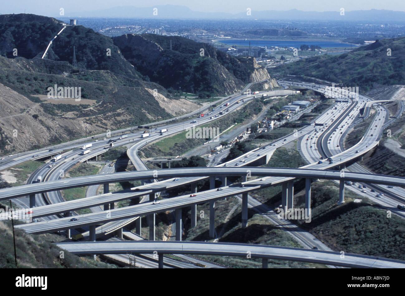 5 Freeway And 14 Freeway Interchange Los Angeles California United States Of America Near Santa Clarita