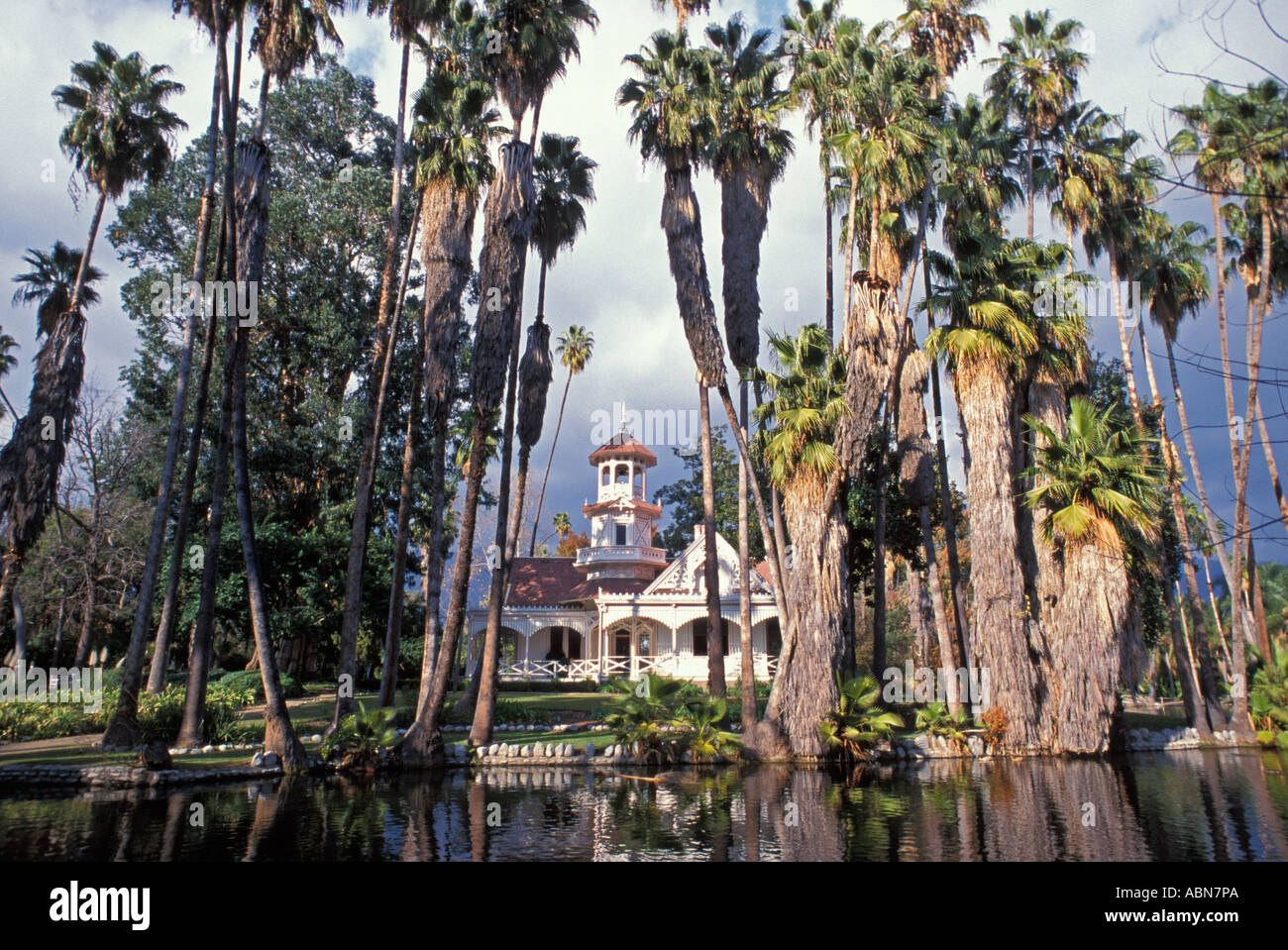 Queen Anne Cottage Los Angeles Arboretum Arcadia California United States  Of America   Stock Image