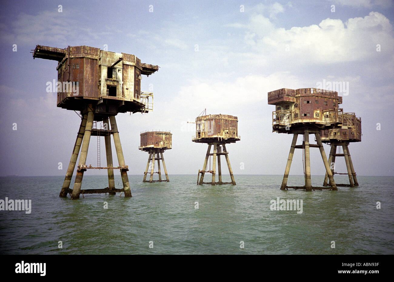 Sea defenses 2 - Stock Image