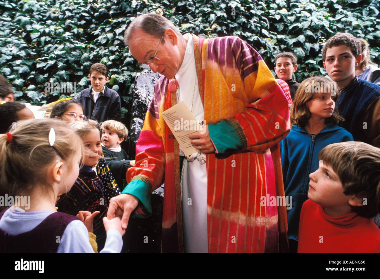 California, San Francisco, Bishop Swing at St Gregory Nyssen Episcopal Church Stock Photo