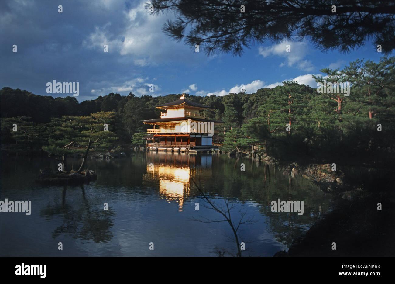 Golden pavilion Kinkakuji Kyoto Japan - Stock Image