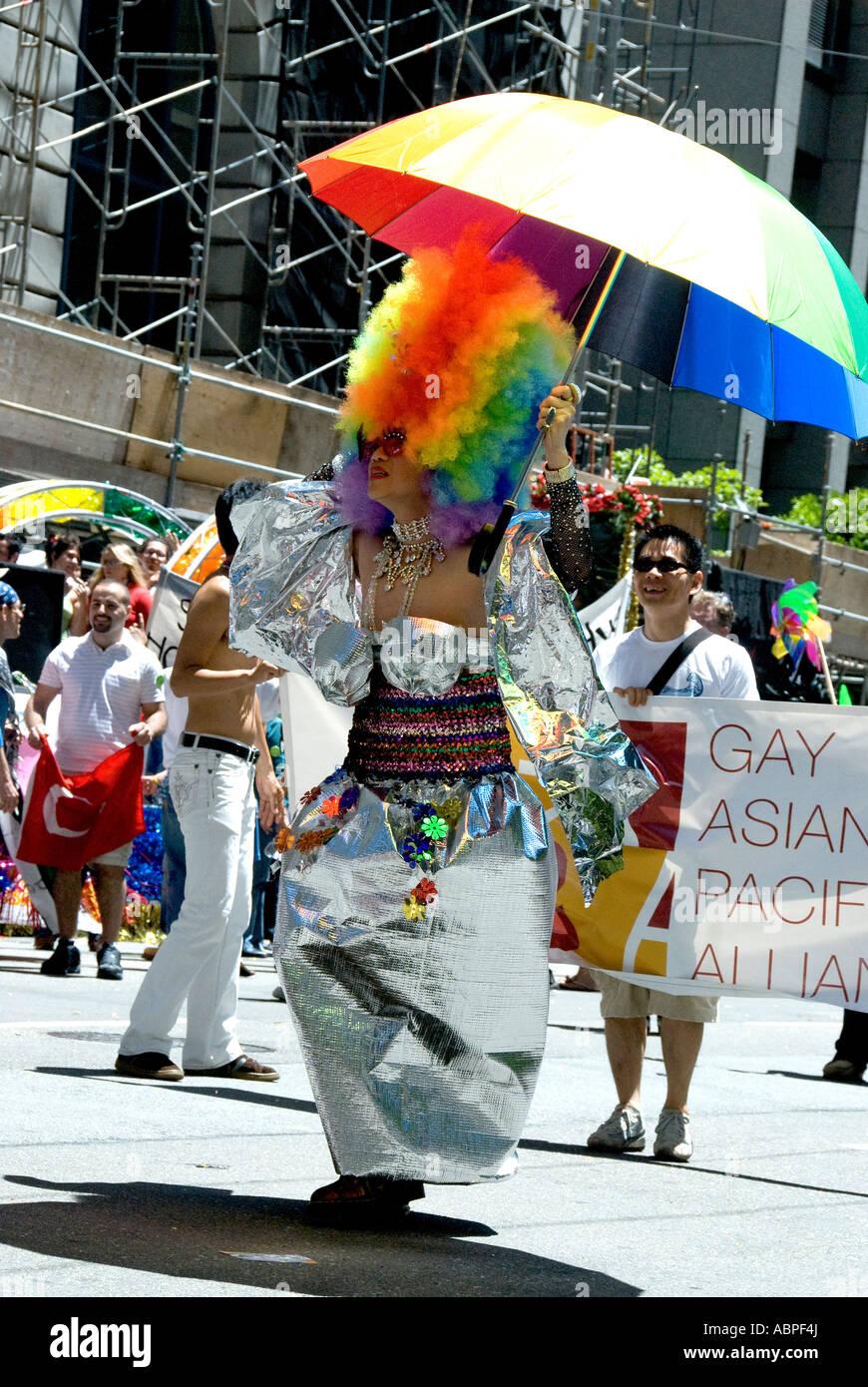 proformer in gay parade - Stock Image