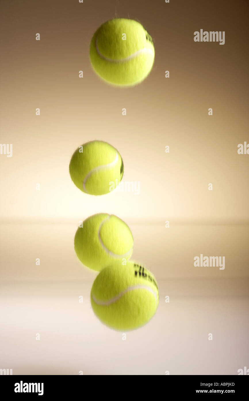 Tennis Balls Bouncing Stock Photos Tennis Balls Bouncing Stock