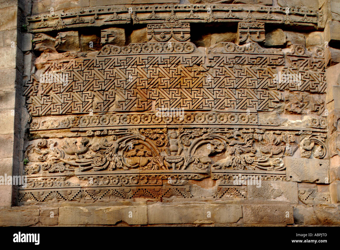 AAD78979 buddhist motifs india Buddhism widespread Asian religion or philosophy - Stock Image