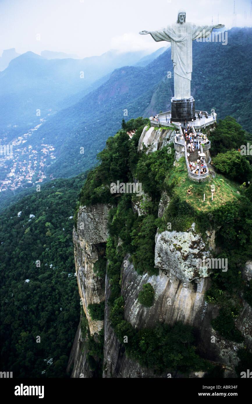 rio de janeiro brazil the christ statue on the corcovado mountain