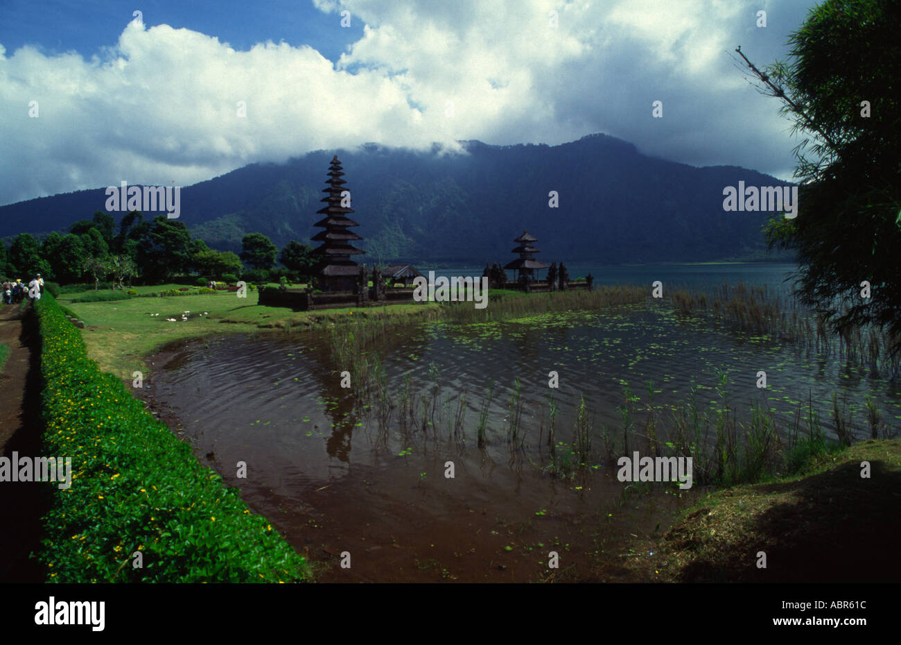 Bali Lake Bratan Ulu Danu Temple Stock Photo