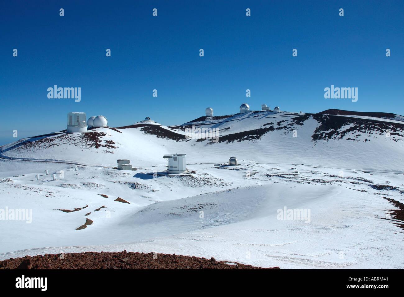 mauna kea summit and the observatories and telescopes the big island