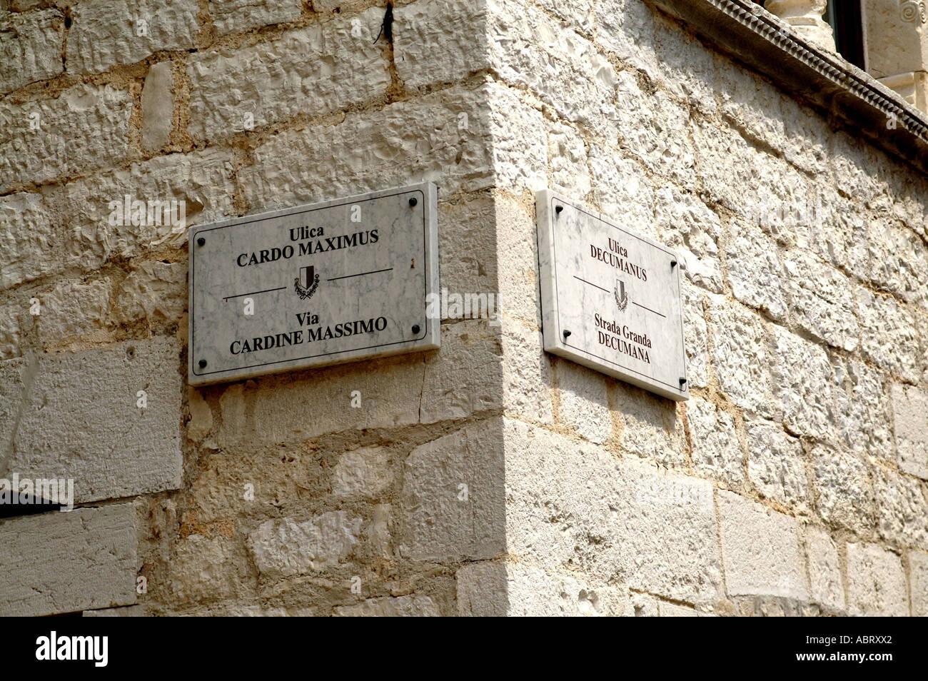 Intersection Of The Decumanus And The Cardo Maximus In Porec Croatia