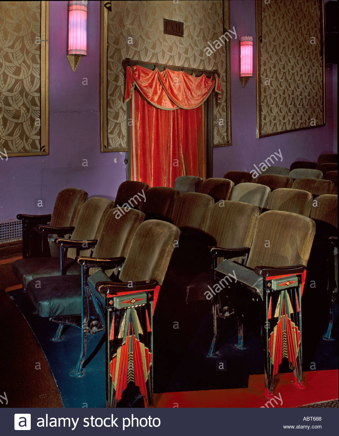 The Criterion Theater, Bar Harbor, Maine, 1932. Interior. - Stock Image