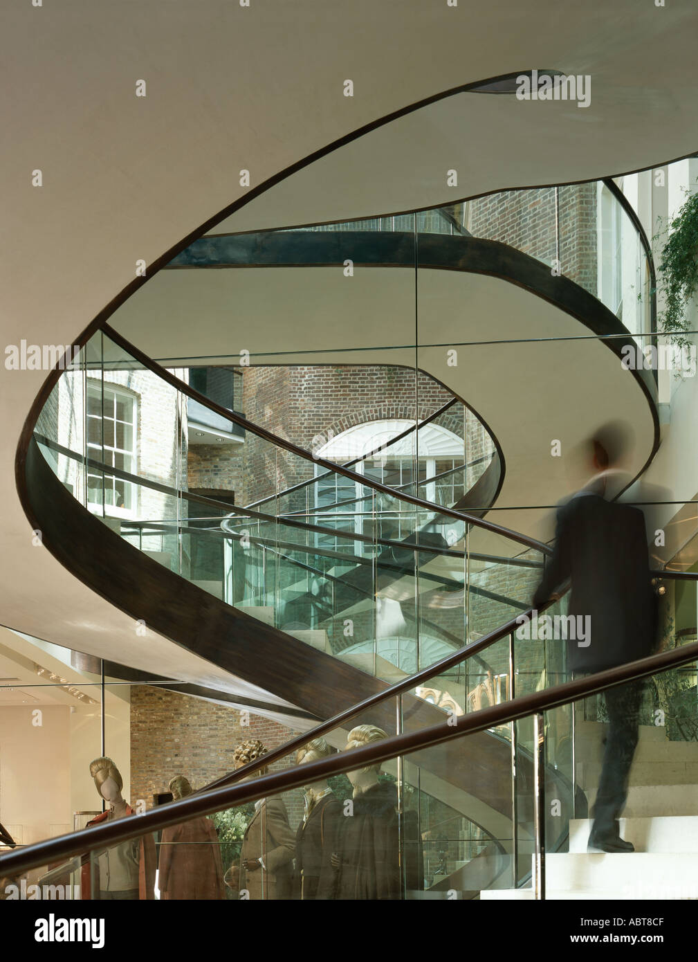 Asprey Flagship Store, 167 New Bond Street, London. Spiral Staircase.  Architect: Foster And Partners