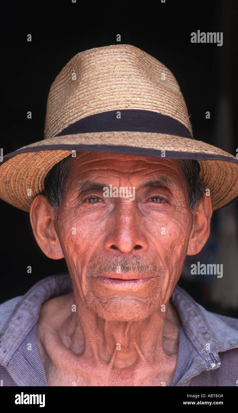 The Choir Master of the Ixil community of Nebaj This respected elder can read verses from Latin prayer books GUATEMALA - Stock Image