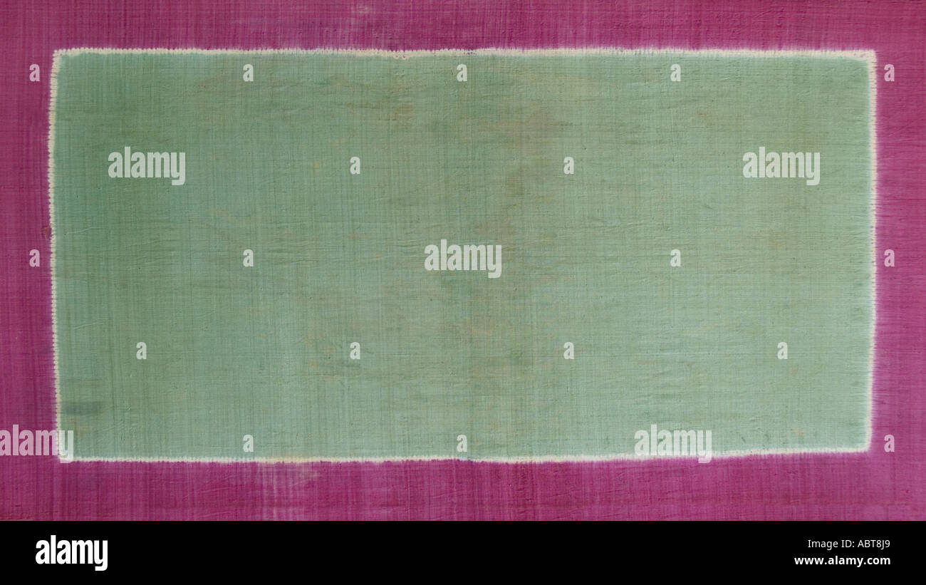 Ceremonial cloth and sacred heirloom Dodot Silk plangi decorated textile from Lampung Sumatra Indonesia Stock Photo