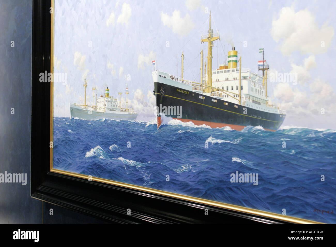 New York Atlantic Ocean Holland America Line Ms Noordam Art Framed