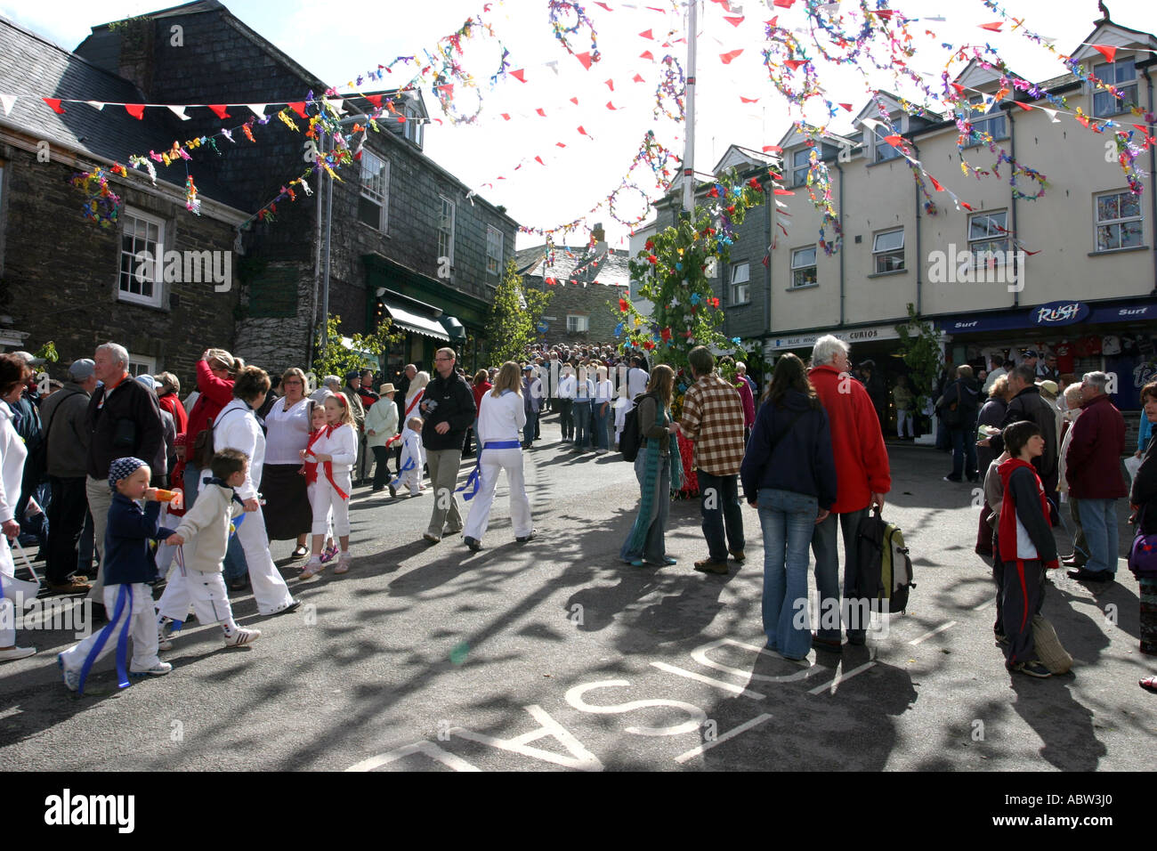 May Day Celebrations, Padstow - Stock Image