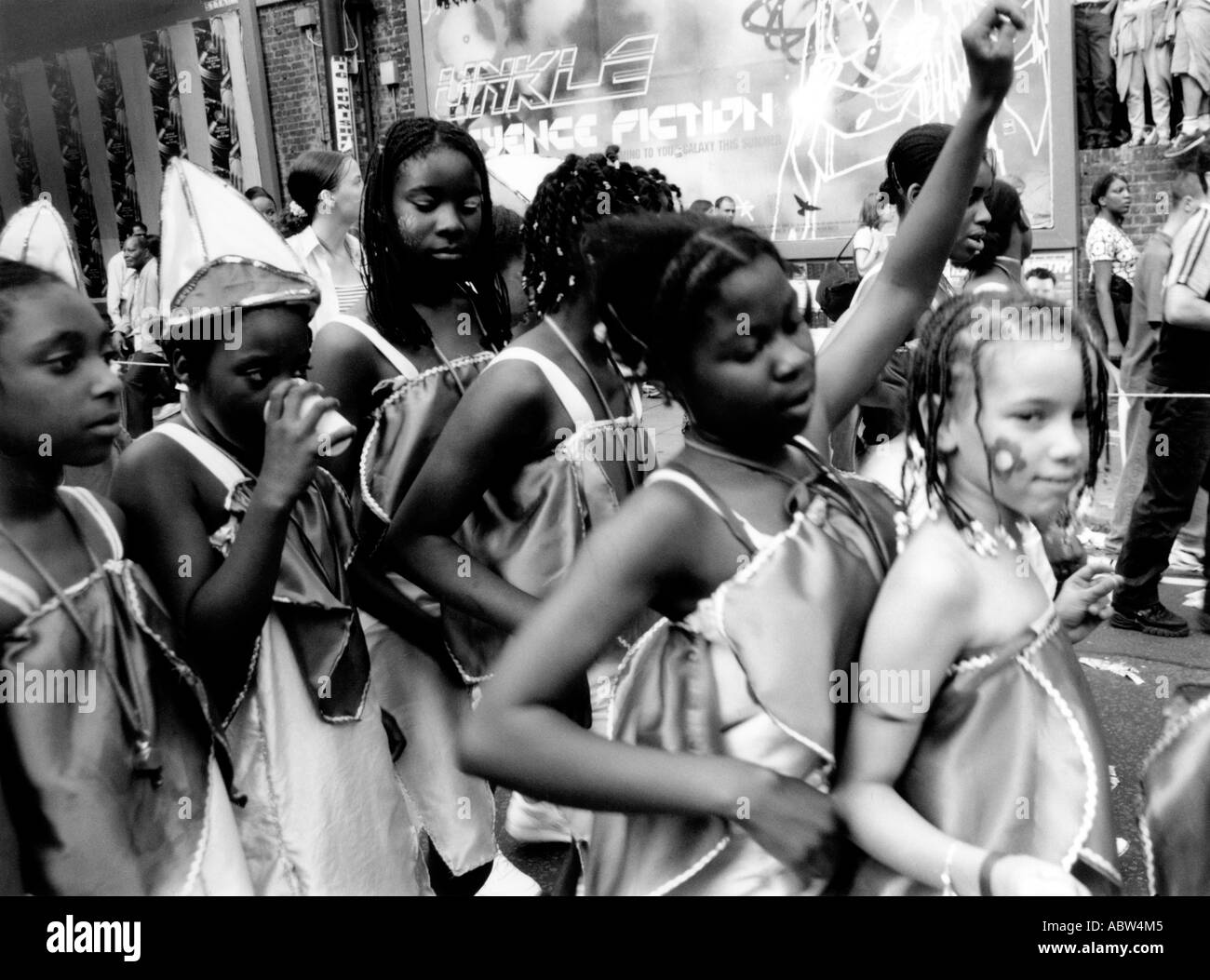 Dancers at Notting Hill Carnival - Stock Image