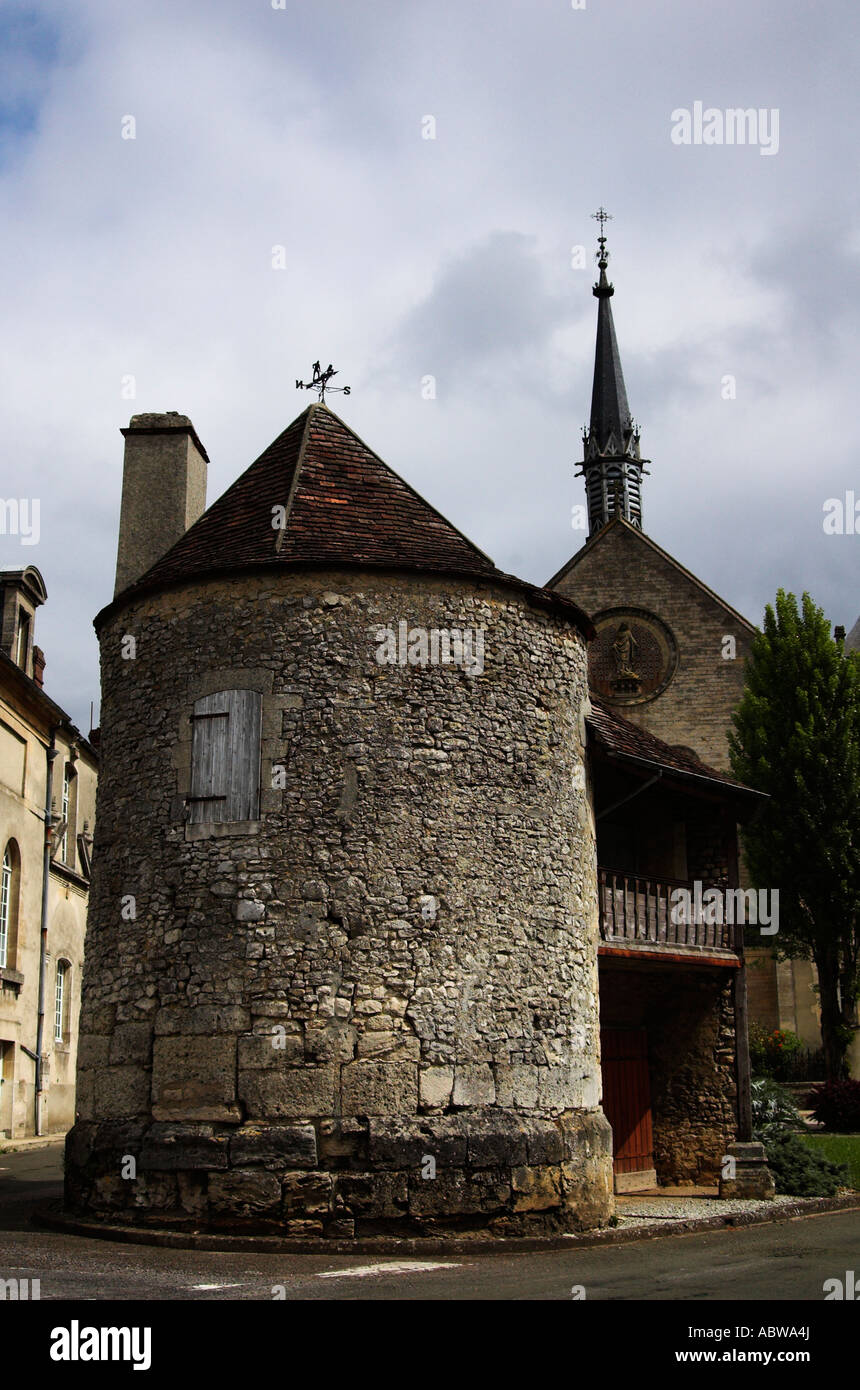 Round building, Sees, France - Stock Image