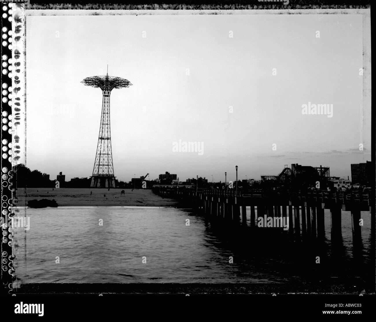 The pier at Coney Island. - Stock Image