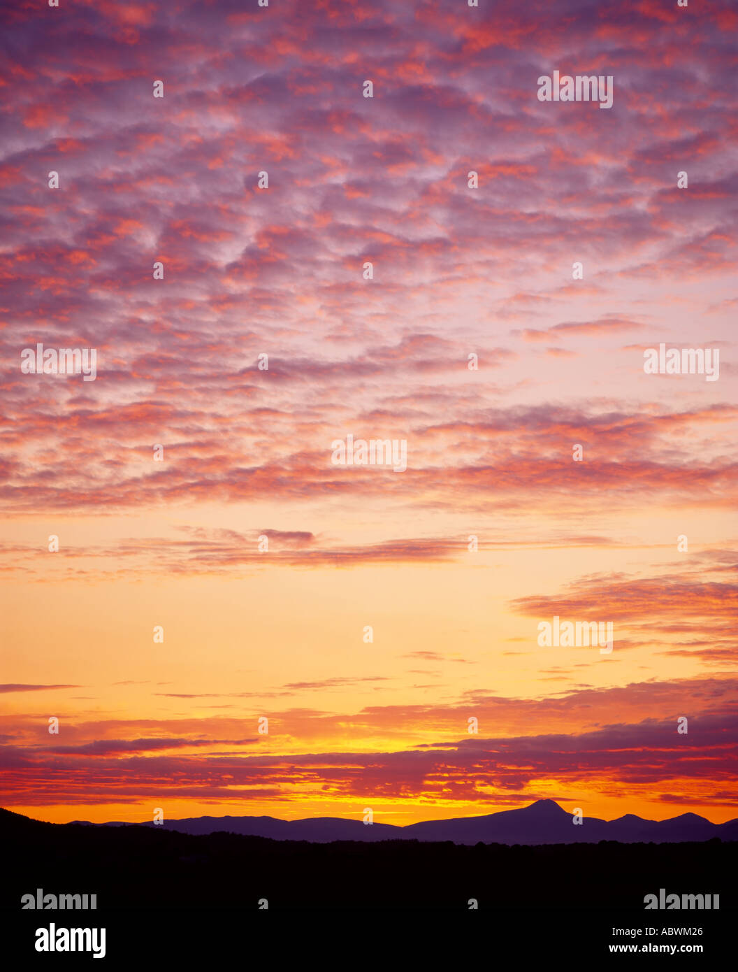 Ben Lomond Sunset view from Stirling, Scotland, UK - Stock Image