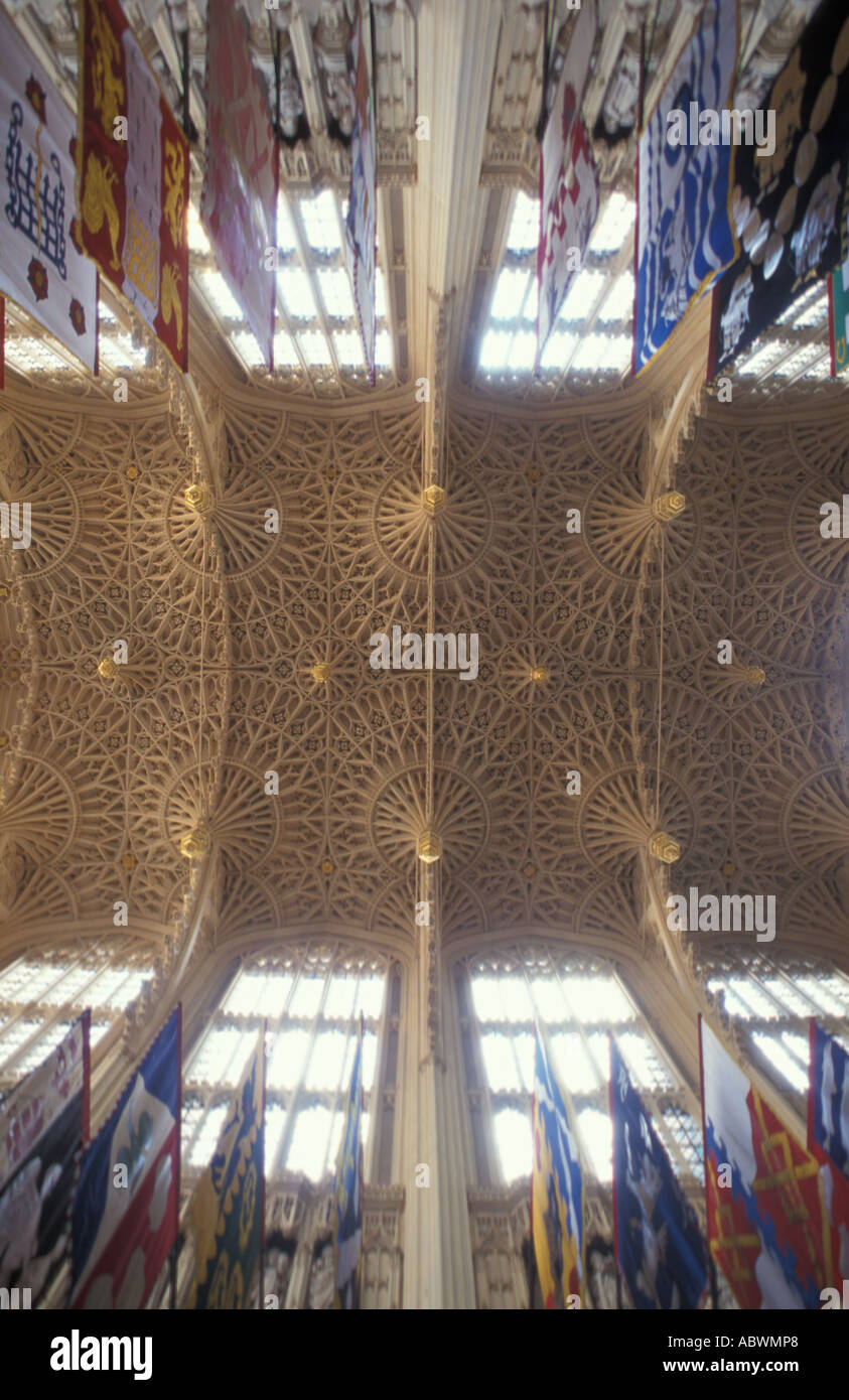 Interior ceiling Westminster Abbey London England UK Stock Photo