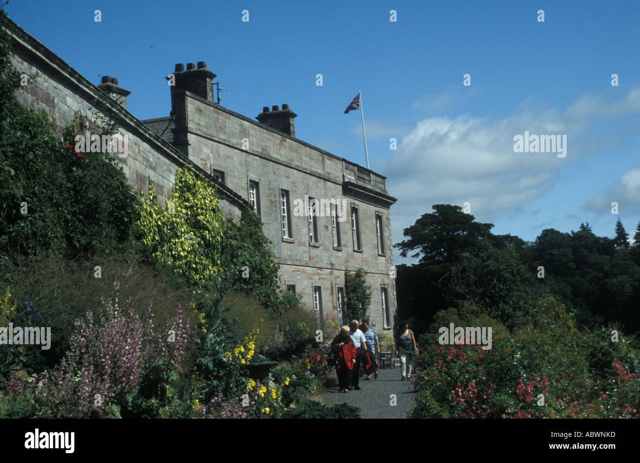 Dalemain House Terrace Penrith Cumbria England UK - Stock Image