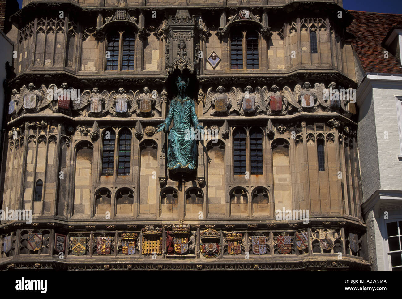 detail of the facade Canterbury Cathedral Kent England UK - Stock Image