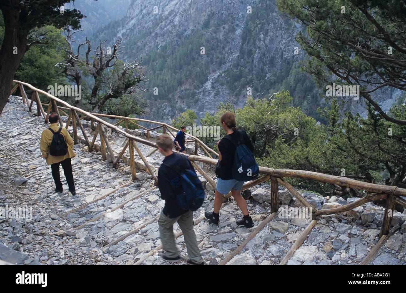 Greece Kreta Samaria Schlucht Ravine Gorge Valley Stock Photo