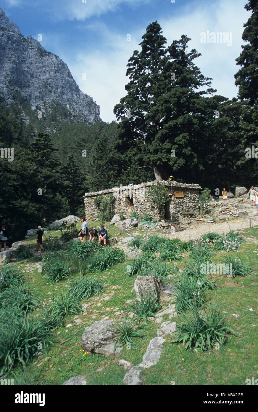 Greece Kreta Samaria Schlucht Ravine Gorge Valley Stock Photo