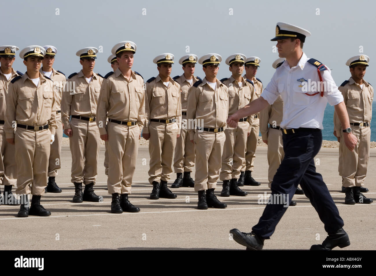 Stock Photo of An Israeli Navy Military Ceremony Stock Photo