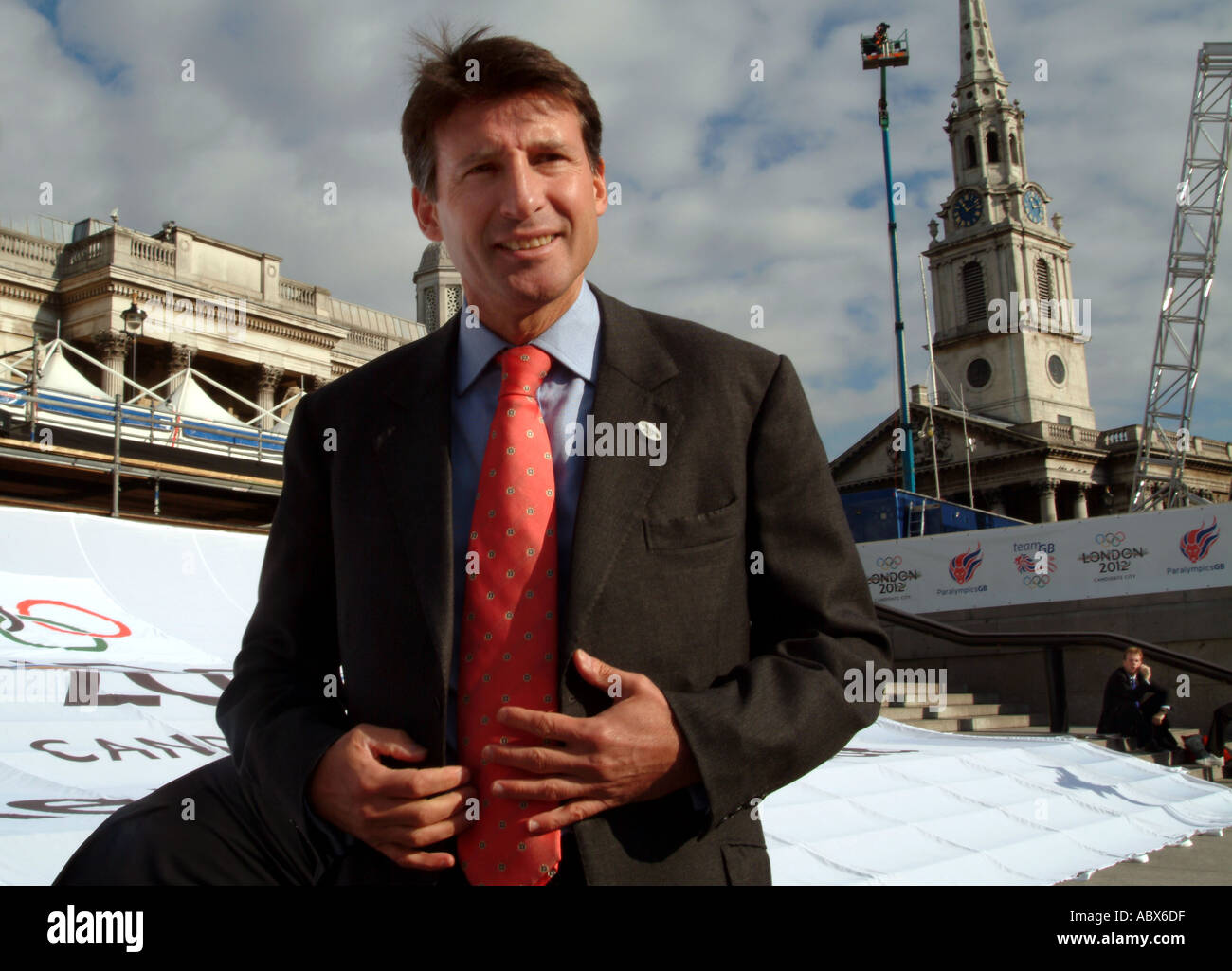 Sebastian Coe head of British olympic Committee - Stock Image