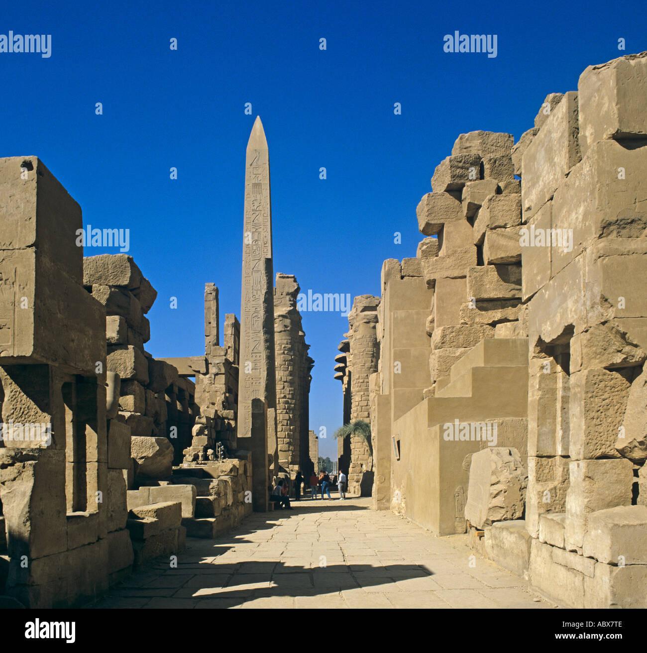 Afrika Africa African Aegypten Egypt Egypte Egyptian Egypt Oberaegypten Karnak Grosser Great Amun Tempel Temple - Stock Image