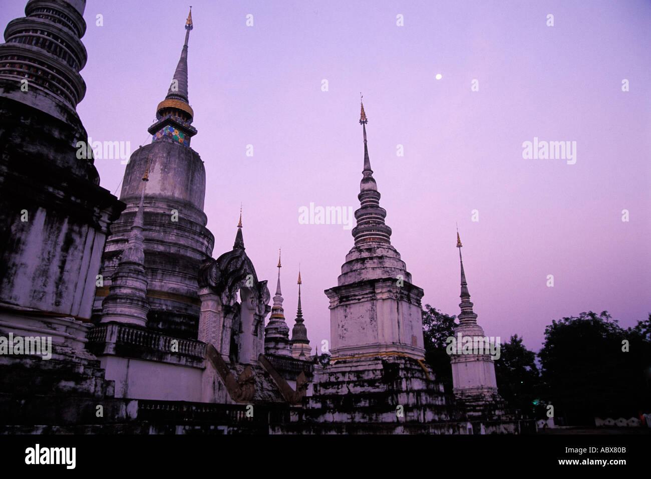 Thailand, Chiang Mai, Wat Suan Dok Stock Photo