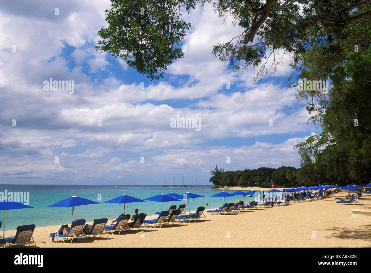 Barbados, St James, Sandy Lane, beach - Stock Image