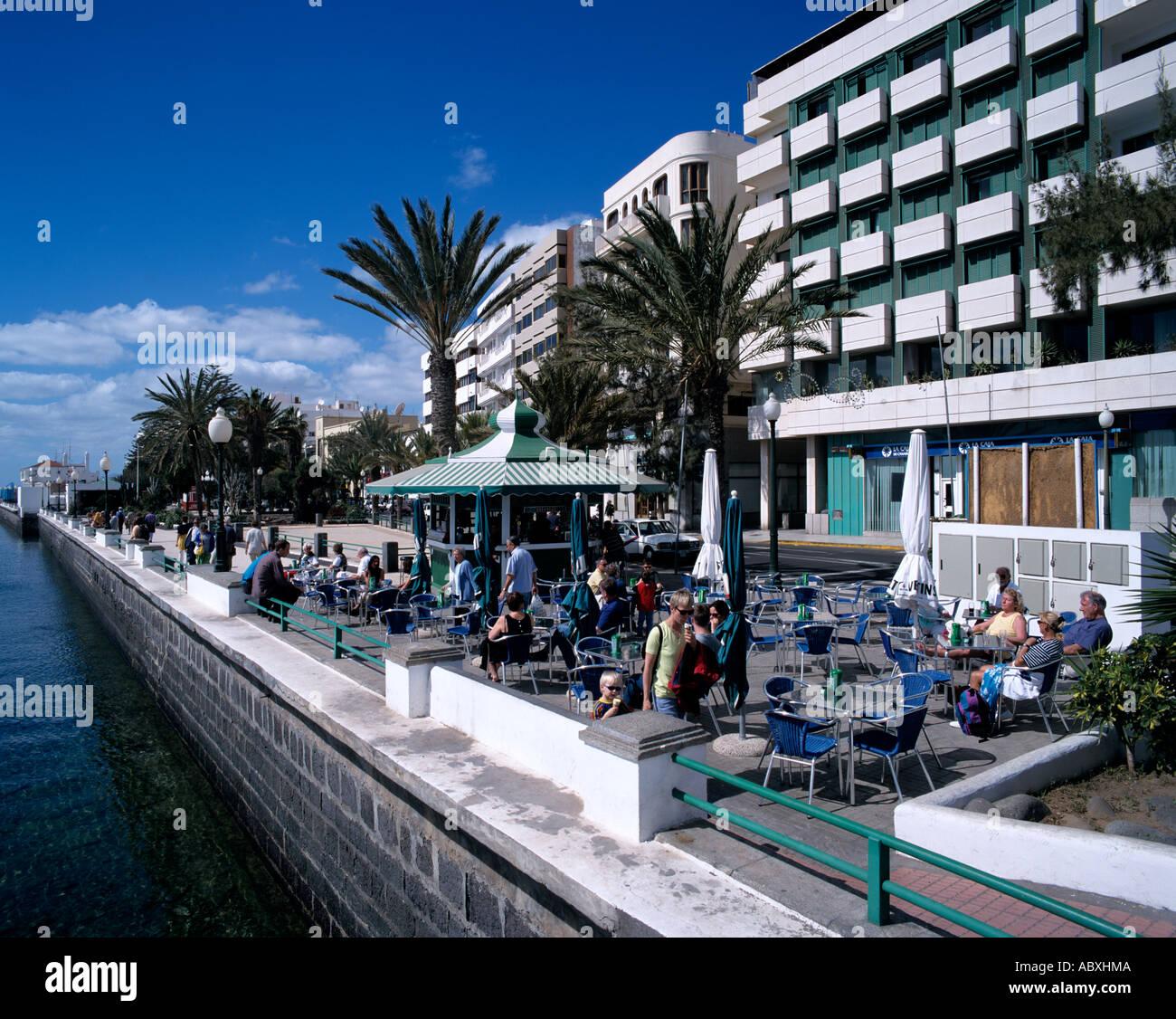 Spanien Spain Lanzarote Arrecife Promenade Stock Photo
