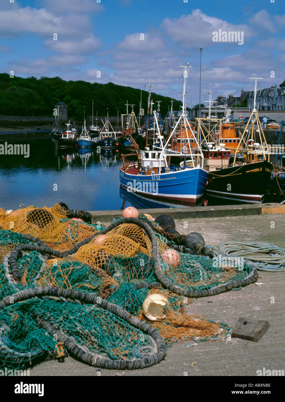 Fishing boats in harbour, Stornaway, Lewis, Outer Hebrides, Scotland, UK. - Stock Image