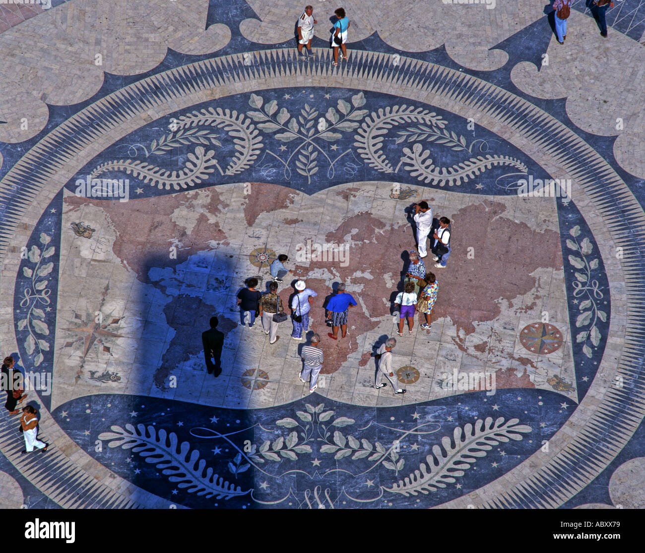 The Mosaic world Map Belem Lisbon Portugal Stock Photo: 4239992 - Alamy